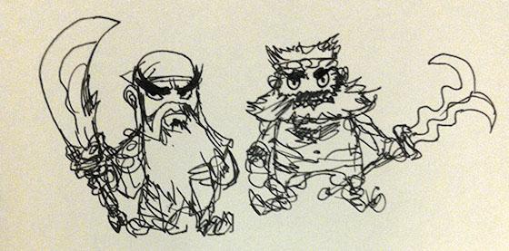 Guan Yu and Zhang Fei Sketch