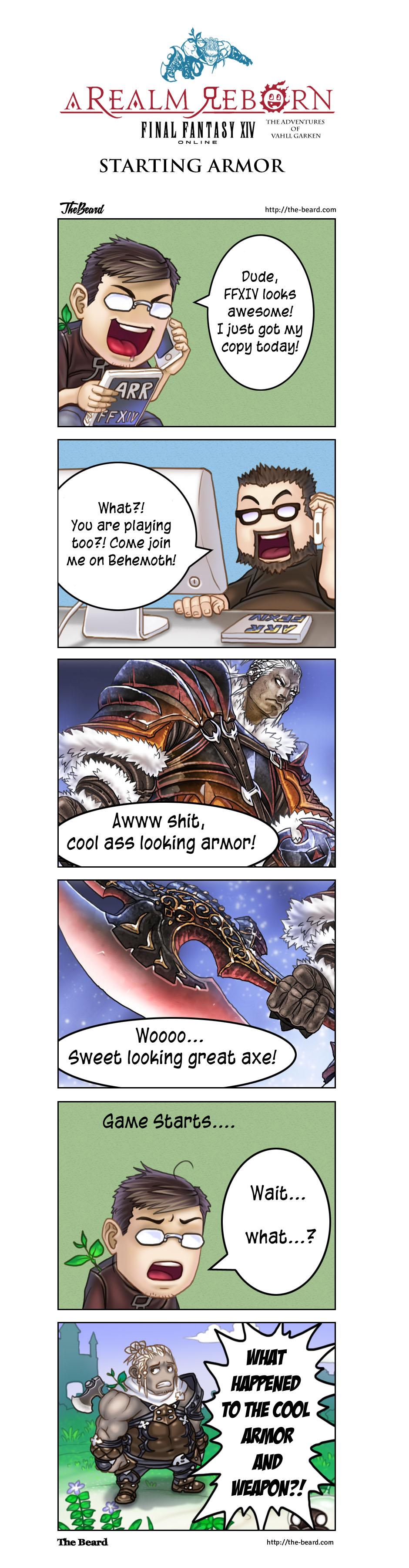 FFXIV Comic - Starting Armor