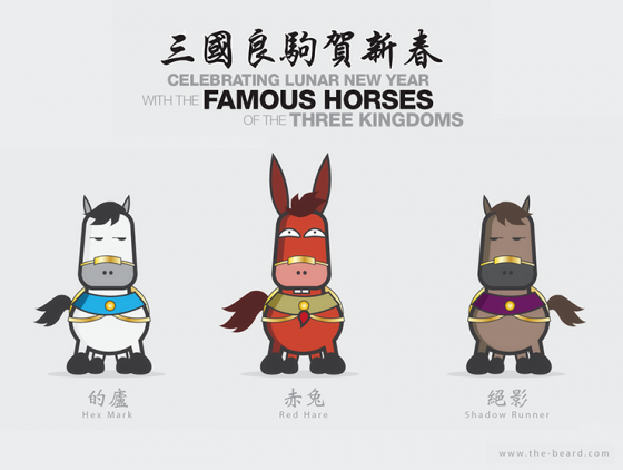 Celebrating Lunar New Year with the famous horses of the three kingdoms