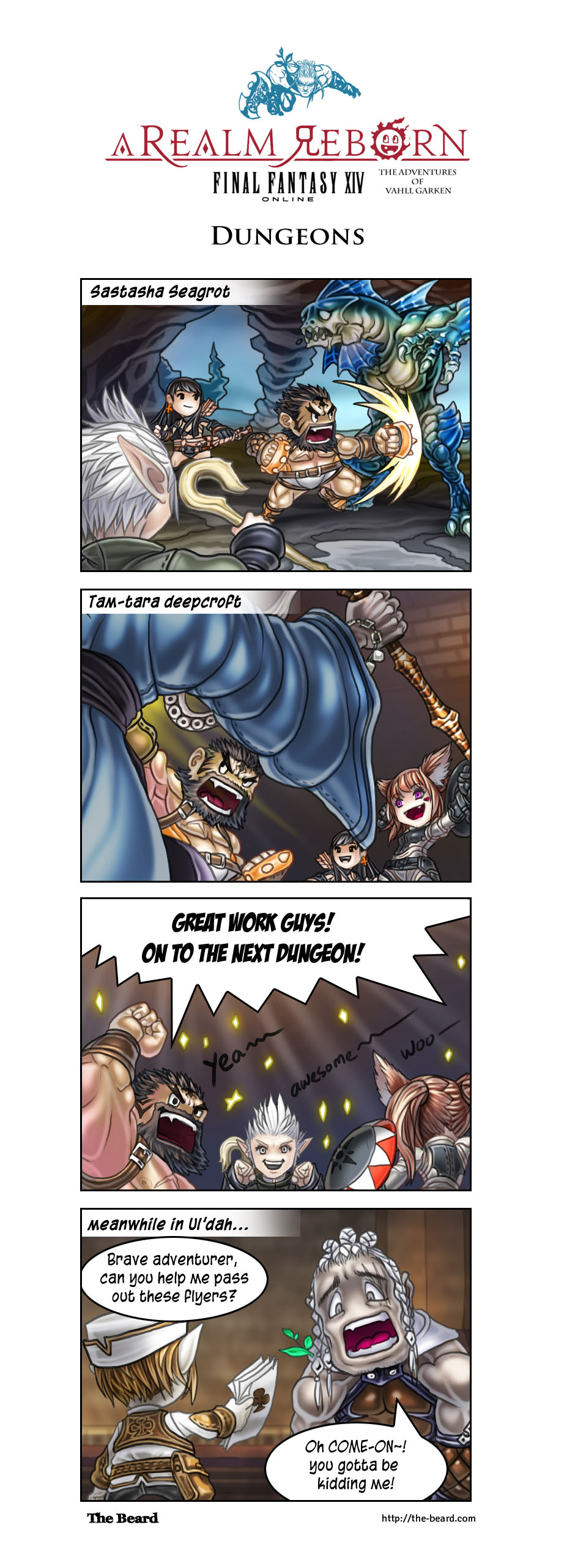 FFXIV Comic - Dungeons