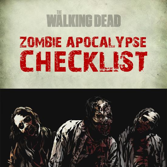 The Walking Dead - zombie apocalypse checklist